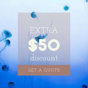 Image design template for sales - #banner #businnes #sales #CallToAction #salesbanner #invertebrate #invertebrates #biology #underwater #blue #water #computer #cnidaria #organism #jellyfish