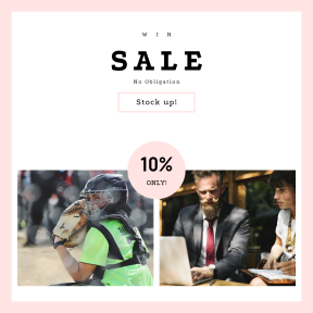 Image design template for sales - #banner #businnes #sales #CallToAction #salesbanner #headgear #equipment #female #wearing #meeting #tie #mask