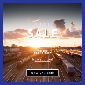 Image design template for sales - #banner #businnes #sales #CallToAction #salesbanner #cloud #rail #corporate #landscape #industrial #orange #sky