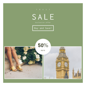 Image design template for sales - #banner #businnes #sales #CallToAction #salesbanner #floral #city #stairs #heels #westminster