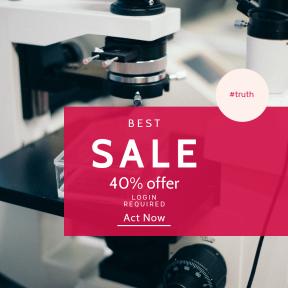 Image design template for sales - #banner #businnes #sales #CallToAction #salesbanner #university #light #white #r&d #lab #science #biology #slide #microscope