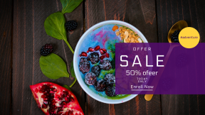 FullHD image template for sales - #banner #businnes #sales #CallToAction #salesbanner #cleanse #loss #spoon #breakfast #fruit #diet #eating