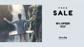 FullHD image template for sales - #banner #businnes #sales #CallToAction #salesbanner #wanderlust #wander #city #female #adventurer #water #swing #young #travel