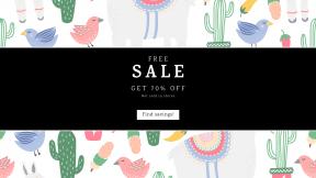 FullHD image template for sales - #banner #businnes #sales #CallToAction #salesbanner #font #area #art #textile #clip #line