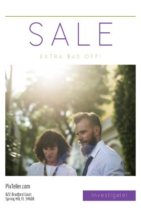 Portrait design template for sales - #banner #businnes #sales #CallToAction #salesbanner #woman #colleague #person #business #city #meeting #businesswoman #businessman #sun