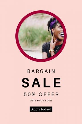Portrait design template for sales - #banner #businnes #sales #CallToAction #salesbanner #hair #circle #symbols #lips #arm #shapes