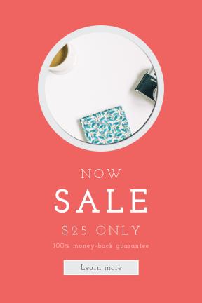Portrait design template for sales - #banner #businnes #sales #CallToAction #salesbanner #white #latte #box #floral #flatlay #black