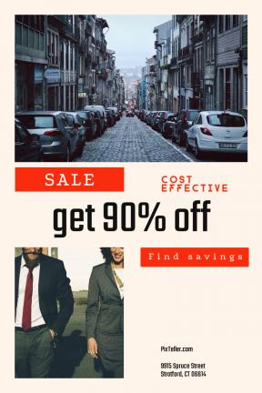 Portrait design template for sales - #banner #businnes #sales #CallToAction #salesbanner #shapes #button #city #connection #wallpaper #building #woman #narrow #portugal #house