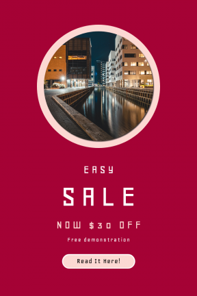 Portrait design template for sales - #banner #businnes #sales #CallToAction #salesbanner #photography #copenhagen #city #urban #water #at #reflection #add #night