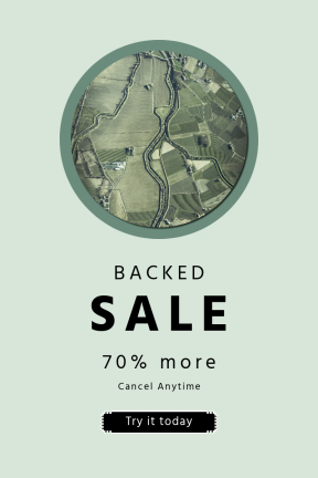 Portrait design template for sales - #banner #businnes #sales #CallToAction #salesbanner #aerial #country #agriculture #river #top #graphics #view #editor #village #map