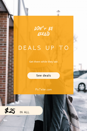 Portrait design template for sales - #banner #businnes #sales #CallToAction #salesbanner #walking #beannie #street #jacket #shop #city #wandering #car #cold #shapes