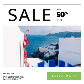 Image design template for sales - #banner #businnes #sales #CallToAction #salesbanner #wall #sea #best #design #ocean #trip #gate #europe #building