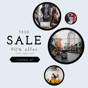 Image design template for sales - #banner #businnes #sales #CallToAction #salesbanner #earphones #man #sidewalk #tech #activity #gym