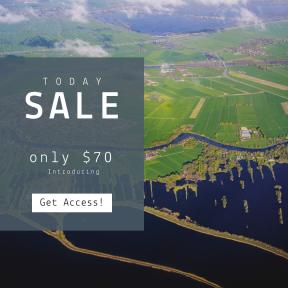 Image design template for sales - #banner #businnes #sales #CallToAction #salesbanner #agriculture #city #plassen #field #municipality #beautiful #land #dutch