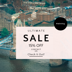 Image design template for sales - #banner #businnes #sales #CallToAction #salesbanner #aerial #view #london #drone #shard #england #water