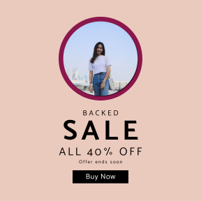 Image design template for sales - #banner #businnes #sales #CallToAction #salesbanner #blur #female #woman #industrial #indie #sky