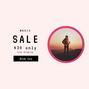 Image design template for sales - #banner #businnes #sales #CallToAction #salesbanner #guy #ray #sun #sunlight #flare #hills #male #silhouette