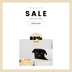 Image design template for sales - #banner #businnes #sales #CallToAction #salesbanner #companion #mammal #puppy #black #table #snout #calory #food #crossbreeds