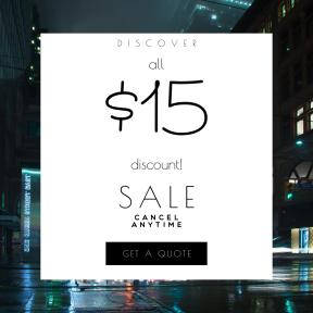 Image design template for sales - #banner #businnes #sales #CallToAction #salesbanner #wet #car #light #mist #dark #night #rain #city