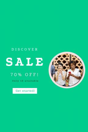 Portrait design template for sales - #banner #businnes #sales #CallToAction #salesbanner #westerner #friend #smiling #woman #together