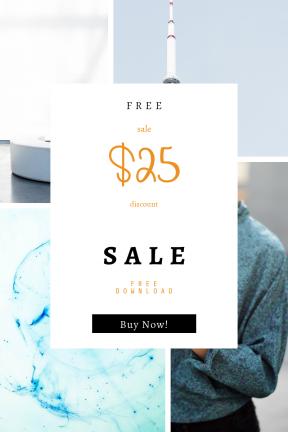 Portrait design template for sales - #banner #businnes #sales #CallToAction #salesbanner #black #phone #networking #medicine #technology