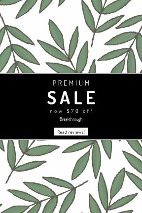 Portrait design template for sales - #banner #businnes #sales #CallToAction #salesbanner #tree #design #line #black #plant #area #stem #branch