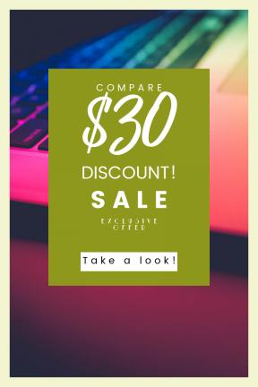 Portrait design template for sales - #banner #businnes #sales #CallToAction #salesbanner #pro #laptop #hand #office #typing #professional #man