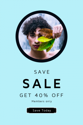 Portrait design template for sales - #banner #businnes #sales #CallToAction #salesbanner #hair #urban #ecology #man #square #identity #are #curly #male