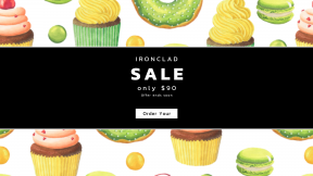 FullHD image template for sales - #banner #businnes #sales #CallToAction #salesbanner #food #baking #muffin #icing #cake #buttercream