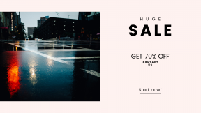 FullHD image template for sales - #banner #businnes #sales #CallToAction #salesbanner #wet #reflection #urban #light #bokeh #road #background #city