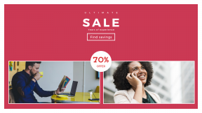 FullHD image template for sales - #banner #businnes #sales #CallToAction #salesbanner #holding #connected #communication #talk #work #book #woman #shop #man