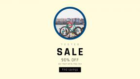FullHD image template for sales - #banner #businnes #sales #CallToAction #salesbanner #riverside #bike #river #transport #of #teal