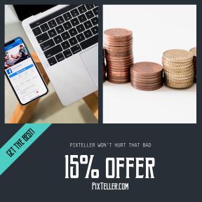 Image design template for sales - #banner #businnes #sales #CallToAction #salesbanner #finance #bronze #financial #iphone #graph #tech