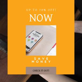 Image design template for sales - #banner #businnes #sales #CallToAction #salesbanner #phone #technology #table #phonex #marketing