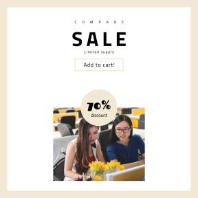 Image design template for sales - #banner #businnes #sales #CallToAction #salesbanner #share #glasses #work #female #style #school #university