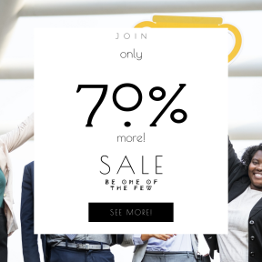 Image design template for sales - #banner #businnes #sales #CallToAction #salesbanner #teamwork #laughing #celebrating #diversity #smiling #american #businesswoman
