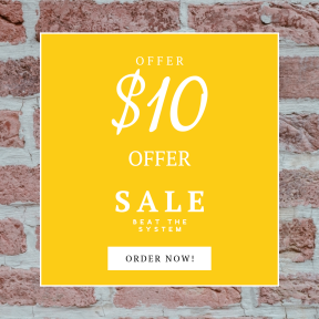 Image design template for sales - #banner #businnes #sales #CallToAction #salesbanner #wall #brick #material #texture #stone #brickwork