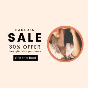 Image design template for sales - #banner #businnes #sales #CallToAction #salesbanner #fashion #glasses #coffee #portrait #face #female #chica #shop