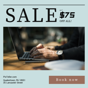 Image design template for sales - #banner #businnes #sales #CallToAction #salesbanner #watch #bokeh #technology #business #device #computer #city
