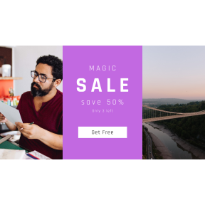 Image design template for sales - #banner #businnes #sales #CallToAction #salesbanner #work #river #artist #bristol #creative #glasses #horizon #looking #designer