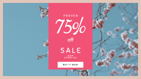 FullHD image template for sales - #banner #businnes #sales #CallToAction #salesbanner #pink #blossom #flower #spring #nature #blue #conference #sky #branch #tree