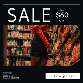 Image design template for sales - #banner #businnes #sales #CallToAction #salesbanner #store #skirt #snack #shapes #shop #vans #lady