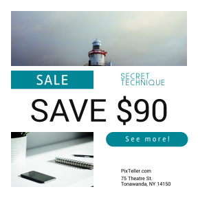 Image design template for sales - #banner #businnes #sales #CallToAction #salesbanner #travel #lighthouse #office #marketing #started #wexford #hook #storm #cloudy #sea