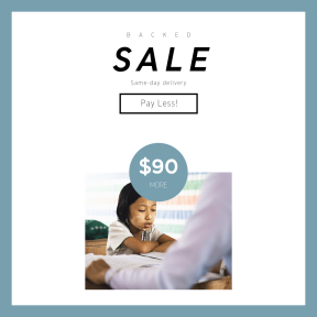 Image design template for sales - #banner #businnes #sales #CallToAction #salesbanner #study #girl #child #educate #crossed #learning #school