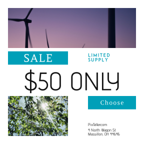 Image design template for sales - #banner #businnes #sales #CallToAction #salesbanner #silhouette #green #farm #pink #night #turbine #windmill #plant #sunset #ecology