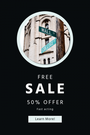 Portrait design template for sales - #banner #businnes #sales #CallToAction #salesbanner #shapes #street #geometrical #shape #sign #road #circle