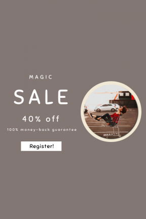 Portrait design template for sales - #banner #businnes #sales #CallToAction #salesbanner #smiling #childhood #trolley #shopping #relaxed