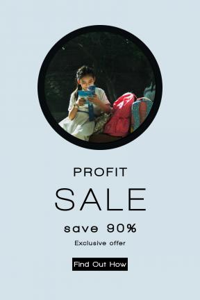 Portrait design template for sales - #banner #businnes #sales #CallToAction #salesbanner #book #citylife #adding #child #rwading #circle #girl #button #street #seat