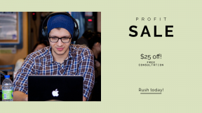 FullHD image template for sales - #banner #businnes #sales #CallToAction #salesbanner #smiling #space #coffee #workspace #food #beanie #laptop #start