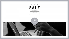 FullHD image template for sales - #banner #businnes #sales #CallToAction #salesbanner #keyboard #keypad #computer #online #and